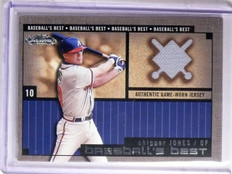 2002 Fleer Showcase Baseball's Best Chipper Jones Jersey *66184