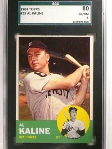 1963 Topps AL Kaline #25 SGC 80 = 6 EX-NM *51659