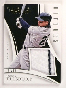 2015 Immaculate Collection Jacoby Ellsbury Hitters Jersey #D21/49 #20 *50846