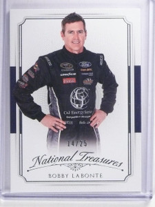 2016 Panini National Treasures Bobby labonte #D14/25 #19 *65648