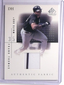 2001 UD SP Game Used Edition Authentic Fabric Frank Thomas Jersey #FTH *66177