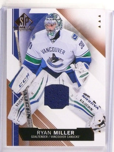 2015-16 SP Game Used Ryan Miller Jersey Copper #48 Canucks *53779