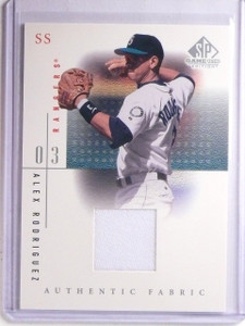 2001 UD SP Game Used Edition Authentic Fabric Alex Rodriguez Jersey #ARH *66174