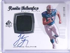 2008 UD SP Authentic Jake Long Rookie Patch Autograph #D397/999 #275 *63289
