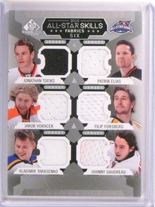 2015-16 SP Game Used Toews Elias Forsberg Gaudreau Tarasenko Voracek Jersey *537