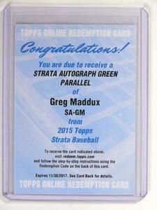 2015 Topps Strata Autographs Green Greg Maddux autograph #SA-GM *52112