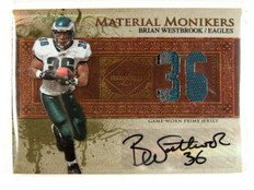 2007 Leaf Limited Monikers Brian Westbrook auto patch #D25/25 #Mm-46 *30288