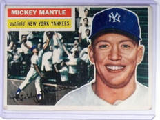 1956 Topps Mickey Mantle #135 VG *47790