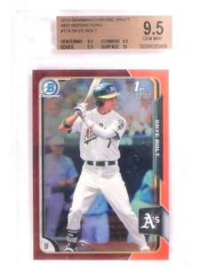 2015 Bowman Chrome Draft Red Refractor Skye Bolt rc rookie #D4/5 BGS 9.5 *53327