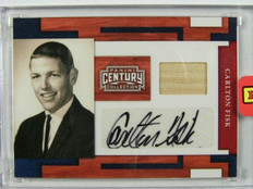 2010 Panini Century Collection Carlton Fisk auto autograph bat #D46/50 *25446