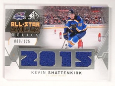 2015-16 SP Game Used Kevin Shattenkirk All-Star Skills Jersey 009/125 #ASKS *530
