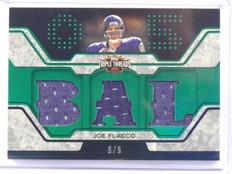 2008 Topps Triple Threads Joe Flacco rc rookie jersey #D9/9 #TTR-10 *39348