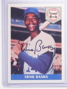 1992 Front Row Ernie Banks Autograph auto JSA #1 *64146