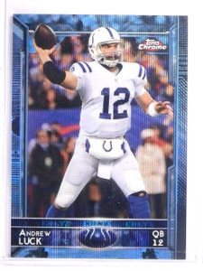 2015 Topps Chrome Andrew Luck Blue Wave Refractor #6 *54164