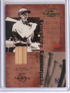 2004 Donruss Classics Legendary Lumber Lou Gehrig bat #D19/25 #LB-50 *31907