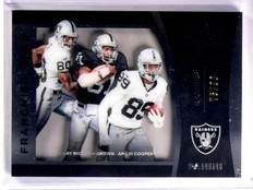 2015 Black Gold Franchise Raiders Jerry Rice Jackson Cooper #D75/99 #FG4 *53916