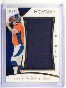 2015 Panini Immaculate Collection Standard Peyton Manning jersey #D20/25 *51798