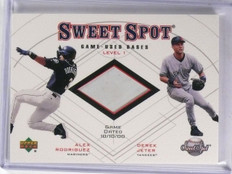 2001 UD Sweet Spot Game Base Duos Alex Rodriguez Derek Jeter Base #B1RJ *59194