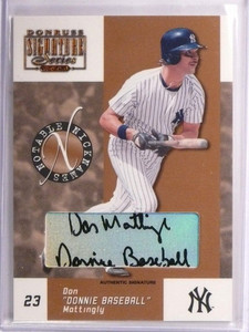 2003 Donruss Signature Notable Nicknames Don Mattingly autograph #D77/100 *55103
