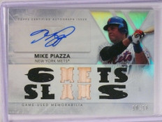 2015 Topps Triple Threads Mike Piazza autograph auto jersey bat #D10/18 *50511