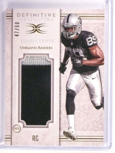 2015 Topps Definitive Collection Amari Cooper Jersey Patch #D47/60 #JPCAC *54347