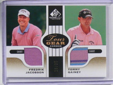 2012 Sp Game Used Fredrik Jacobson & Tommy Gainey dual shirt #D16/35 *37857
