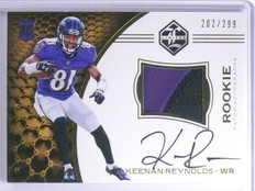 2016 Panini Limited Keenan Reynolds Rookie Patch Autograph #D202/299 #126 *65467
