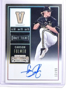 2015 Panini Contenders Draft Ticket Carson Fulmer Autograph rc #D12/99 #4 *64142