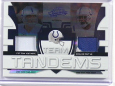2008 Absolute Team Tandems Peyton Manning & Reggie Wayne patch #D02/25 *39323