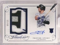 2016 Panini Flawless Trevor Story Rookie Patch Autograph #D09/15 #RPATS *66746