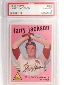 1959 Topps Larry Jackson #399 PSA 8 NM-MT *49279
