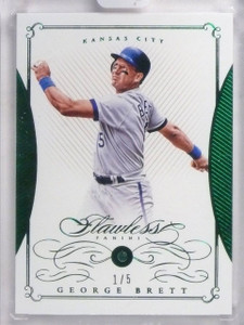 2016 Panini Flawless Emerald George Brett Emerald Gem #D1/5 #14 *60352