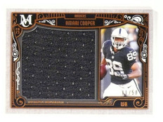 2015 Topps Museum Collection Amari Cooper Bronze Jumbo Jersey 11/50 #MJRAC *5317