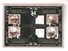 2015 Topps Museum Collection Brees Colston Ingram Cooks Quad Jersey #D13/99 *531