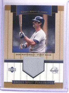 2003 Sweet Spot Classics pinstripes Don Mattingly Jersey #SPDM *61938