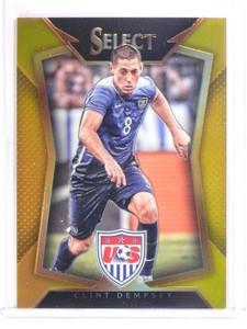 2015 Panini Select Soccer Gold Prizm Clint Dempsey #D07/10 #19 USA *53509