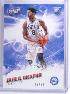 2016 Panini Father's Day Thick Stock Jahlil Okafor Rookie #D12/50 #63 *63366