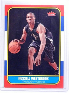 2008-09 Fleer 1986-87 Glossy Russell Westbrook Rookie RC #86R166 chipped *63202