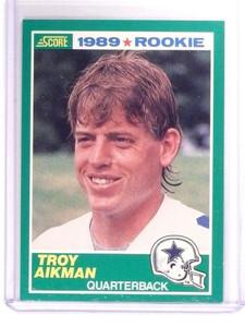 1989 Score Troy Aikman rc rookie #270 *52898