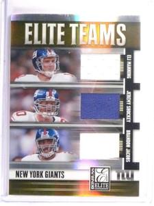 2007 Elite Teams Triple Jersey Giants Manning Shockey Jacobs #D85/99 #ET15 *5270