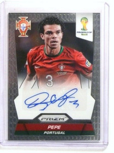2014 Panini Prizm World Cup Signatures Pepe autograph auto #S-PEP Portugal *4478
