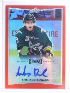 2015-16 Leaf Metal Prismatic Red Anthony Richard Rookie Autograph #D3/3 *60601