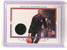 2001-02 Fleer Genuine Coverage Plus Vince Carter Jersey Uniform  *45239