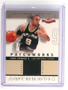 2003-04 Fleer Patchworks Tony Parker Authentic Jersey Patch Level 1 #d103/200 *4