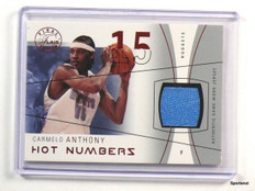 03-04 Flair Final Edition Hot Numbers Carmelo Anthony jersey #D40/175 *43791
