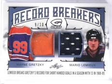 2015-16 Leaf Genesis Record Breakers Gretzky Lemieux Patch Jersey #D9/10 *57679