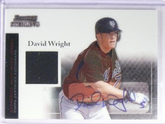 2004 Bowman Sterling David Wright autograph auto jersey #BSDW *49459