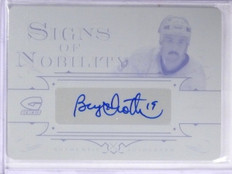 2015-16 Leaf Genesis Nobility Bryan Trottier autograph Printing Plate 1/1 *57571