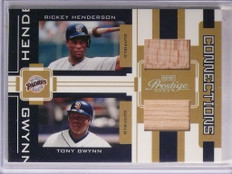 2005 Playoff Prestige Connection Rickey Henderson & Tony Gwynn bat #D14/250 *557