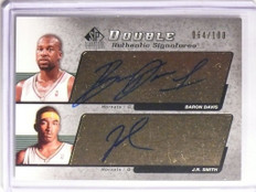 2004-05 Sp Signature Baron Davis & J.R. Smith autograph auto #D64/100 *55789